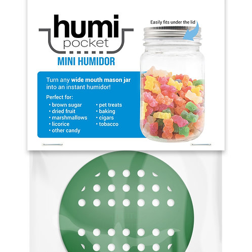 humi pocket green mason jar storage freshness
