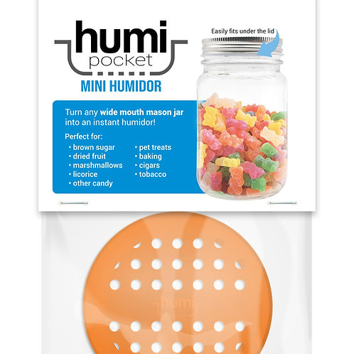 humi pocket orange mason jar storage freshness