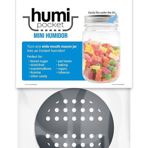 humi pocket black mason jar storage freshness soft brown sugar