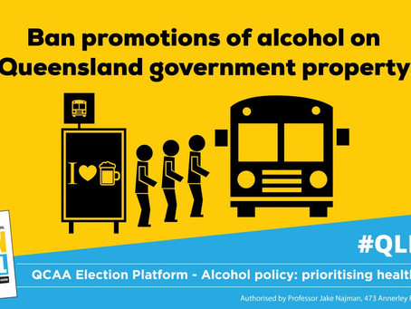 Policy ask: Ban alcohol advertising and promotions on Queensland Government property