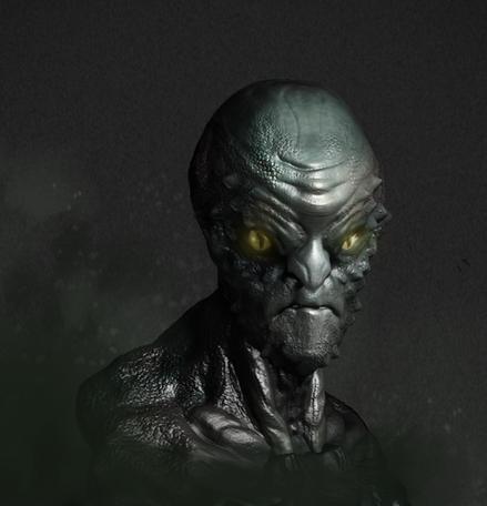 Alien character bust