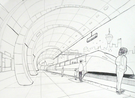 Train Station Sketch