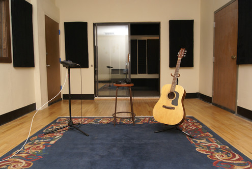 View from piano in the middle tracking room