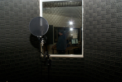 view from the vocal booth