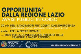 Altre risorse a sostegno di lavoratori e famiglie del Lazio