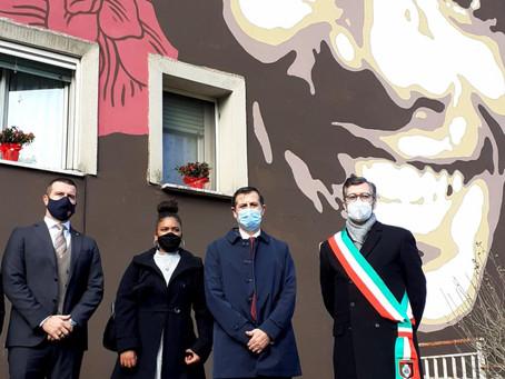 COLLEFERRO: DA REGIONE E AS ROMA UN MURALE PER RICORDARE WILLY MONTEIRO DUARTE