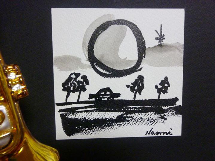 月とドライブ