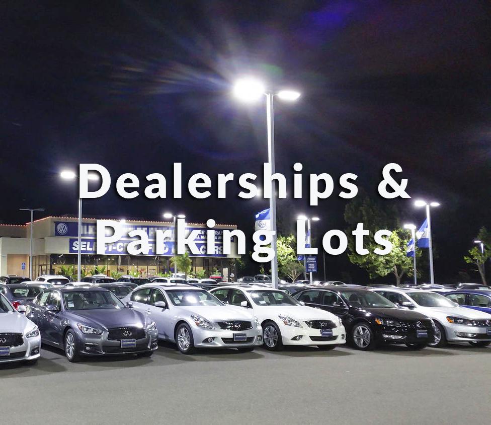 change car dealerships and parking lots old light fixtures to leds