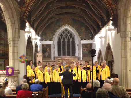 At Holy Trinity Church St Austell, with our guests Torpoint Lady Singers
