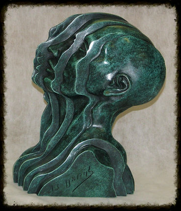 the sculptor, haim levy, bronze, clay, israel, yuvalim, Exhibition, Artist