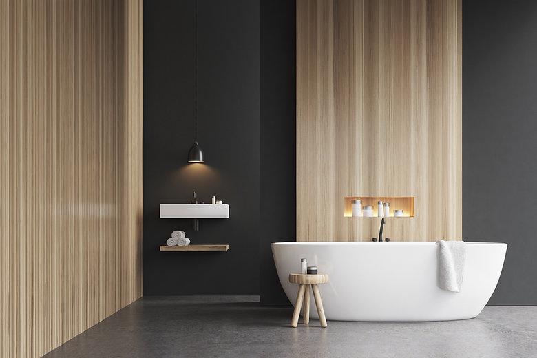 Bathroom interior bathtub 3d rendering m