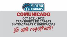 TRANSPORTE DE CARGAS: CCT 2021/2022 JÁ ESTA REGISTRADA!