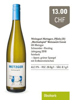 """Wechselspiel"" Weissweincuvée | Weingut Metzger"