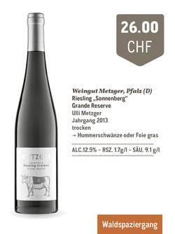 """Sonnenberg"" Riesling Grande Reserve | Weingut Metzger"