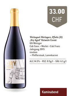 """Rotweincuvée """"Dry Aged"""" 