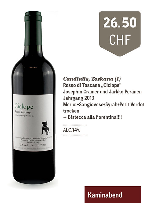 """Rotweincuvée Rosso di Toscana """"Ciclope""""   Candialle"""