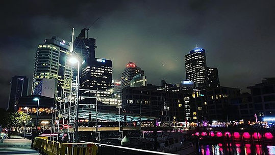 Auckland Viaduct Harbour night view 오클랜드