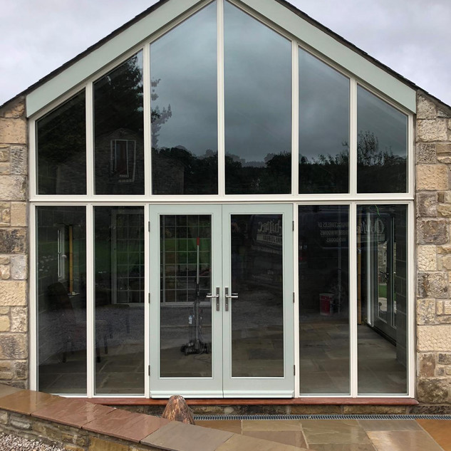 Gable with french doors