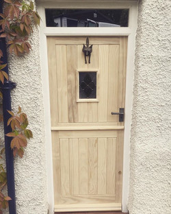 Accoya door and frame fitted earlier tod