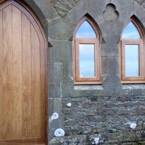 Gothic door and windows