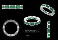 Emerald wedding ring custom made