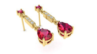 Ruby and Diamond Earrings CAD image