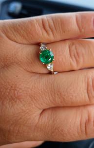 Emerald and Diamond ring custom made