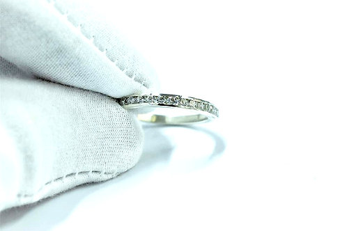 Diamond Channel Set Ring in Sterling Silver or Gold