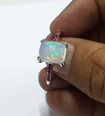 Opal and Ruby Gold ring
