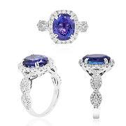 Blue diamond ring, engagement ring, wedd