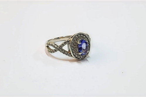 Tanzanite & Zircon Sterling Silver ring