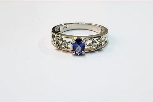 Tanzanite & Zircon 9k Gold ring