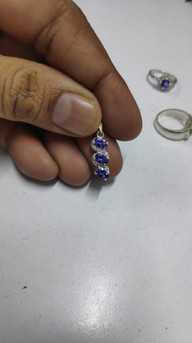 Tanzanite and Diamond White Gold Pendant