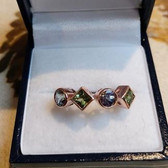 Sapphire and Bi colour Tanzanite Rose Gold