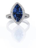 Blue Tanzanite Beautiful Diamond Engagmen
