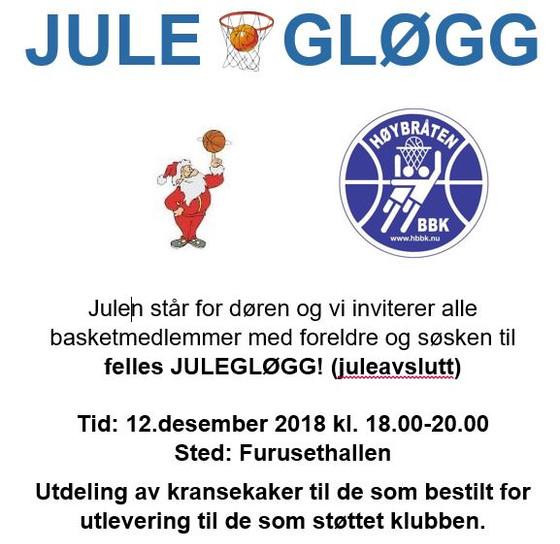 Invitasjon Julegløgg 12.des