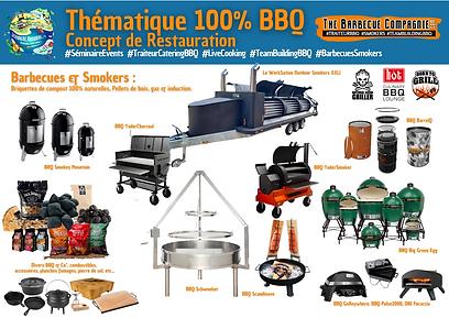 Les différents BBQ de TheBarbecueCompagnie