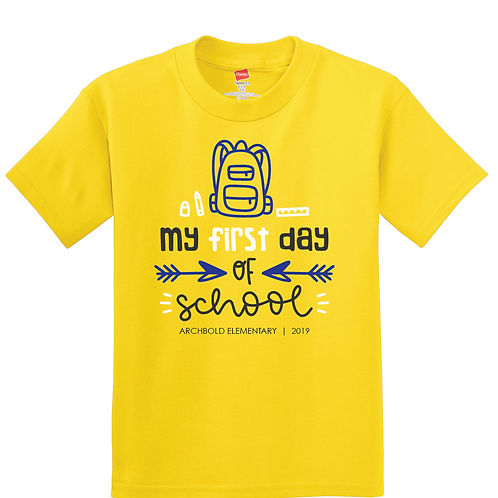 Archbold Elementary - 1st Day of School - 5450 - Yellow
