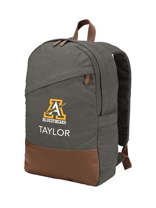 Port Authority ® Cotton Canvas Backpack - BG210 - Dark Smoke Grey