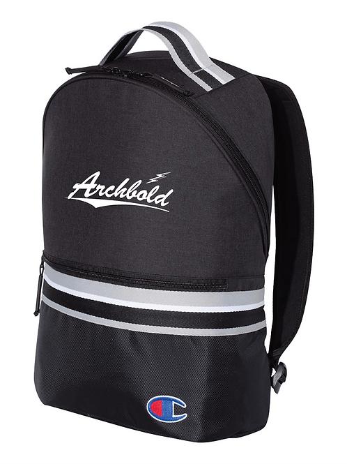 Champion - 23L Striped Backpack - CS1006 - Black