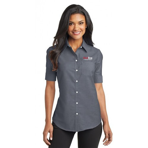 Port Authority Ladies SuperPro Oxford Short Sleeve (TCERE39)