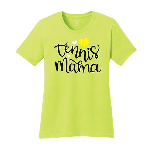 Port & Company® Ladies Core Cotton Tee - LPC54 - Neon Yellow - Tennis Mama