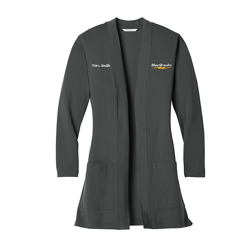 Port Authority ® Ladies Concept Long Pocket Cardigan - LK5434 - Grey Smoke