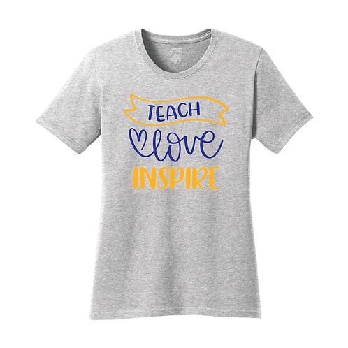 Teach, Love, Inspire - Port & Company Ladies - LPC54 - Athletic Heather