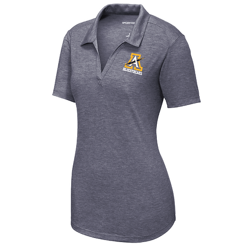 Sport-Tek ® Ladies PosiCharge ® Tri-Blend Wicking Polo - LST405 - Navy Heather