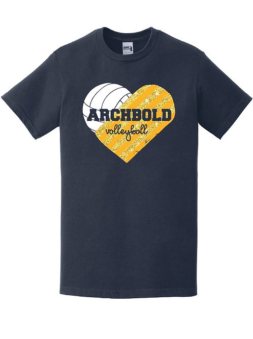 Archbold Volleyball Heart - H000 - Navy