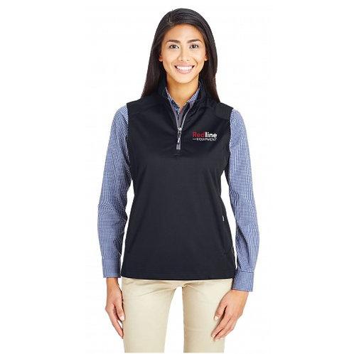 Core 365 Womens Techno Lite Three-Layer Knit Tech-Shell Quarter-Zip Vest