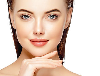 Beautiful woman face portrait cosmetic h