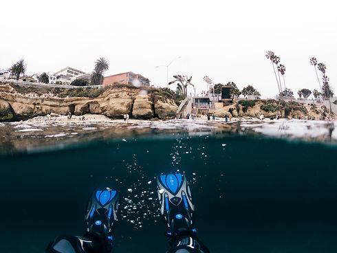 Heading out at La Jolla Cove