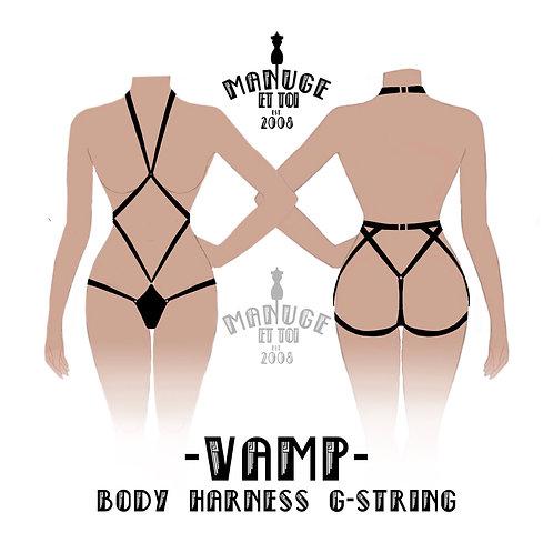 Vamp Body Harness G-String